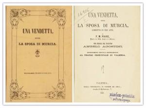 Una vendetta, Ossia La Sposa di Murcia-Biblioteca Valenciana Digital-Señor de Cascales-Dos cuentos y una leyenda-El Club del Escenario